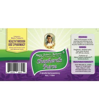 Shepherd's Purse (Capsella bursa-pastoris) 4oz/118ml Herbal Extract / Tincture - Maria Treben's Authentic™ Featured Herb