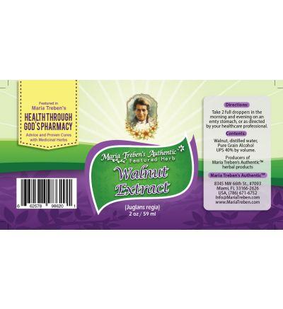 Walnut (Juglans regia) 2oz/59ml Herbal Extract / Tincture - Maria Treben's Authentic™ Featured Herb