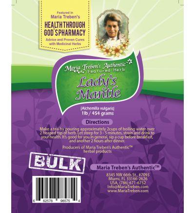 Lady's Mantle (Alchemilla vulgaris) 1lb/454g BULK Herbal Tea - Maria Treben's Authentic™ Featured Herb