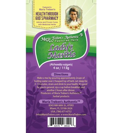 Lady's Mantle (Alchemilla vulgaris) 4oz/113g Herbal Tea - Maria Treben's Authentic™ Featured Herb