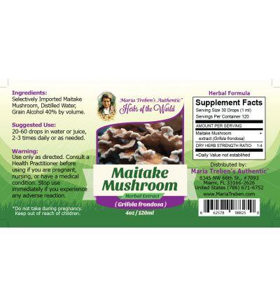 Maitake Mushroom (Grifola frondosa) 4oz/118ml Herbal Extract / Tincture  - Maria Treben's Authentic™ Herbs of the World