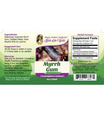 Myrrh Gum (Commiphora Myrrha) 4oz/118ml Herbal Extract / Tincture - Maria Treben's Authentic™ Herbs of the World
