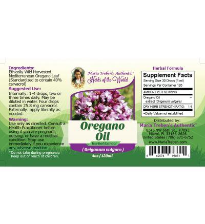 Oregano Oil (Origanum vulgare) 4oz/118ml Herbal Extract / Tincture - Maria Treben's Authentic™ Herbs of the World