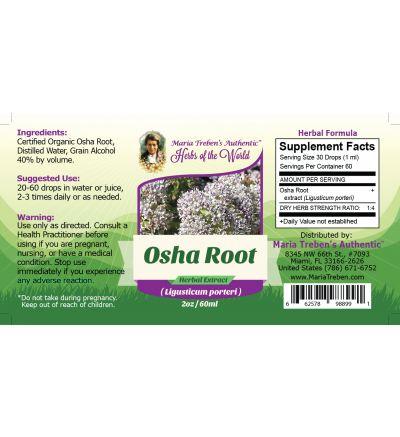 Osha Root (Ligusticum porteri) 2oz/59ml Herbal Extract / Tincture - Maria Treben's Authentic™ Herbs of the World