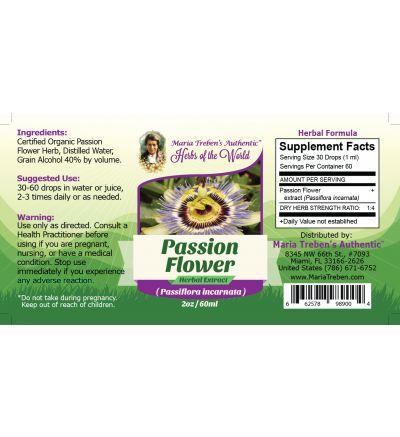 Passion Flower (Passiflora incarnata) 2oz/59ml Herbal Extract / Tincture - Maria Treben's Authentic™ Herbs of the World