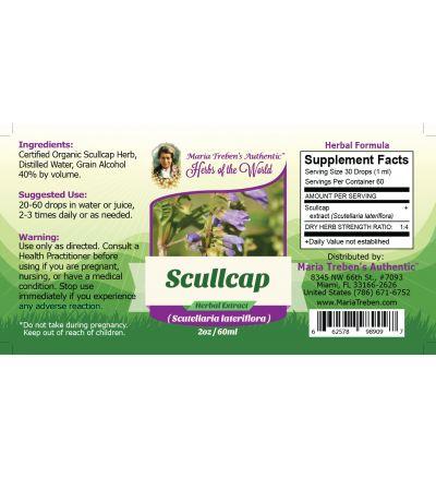 Scullcap (Scutellaria Lateriflora) 2oz/59ml Herbal Extract / Tincture - Maria Treben's Authentic™ Herbs of the World