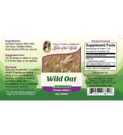 Wild Oat Seed (Avena Sativa) 4oz/118ml Herbal Extract / Tincture - Maria Treben's Authentic™ Herbs of the World