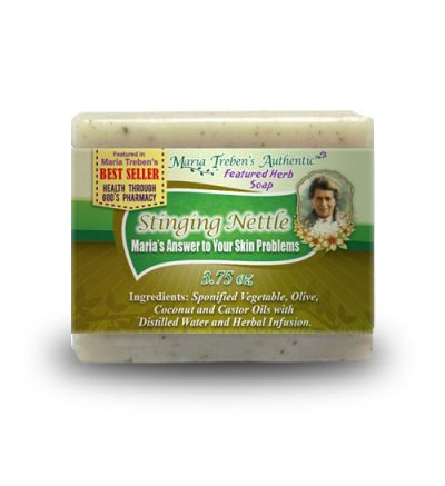 Stinging Nettle (Urtica dioica) 3.75oz Bar Handcrafted Herbal Soap - Maria Treben's Authentic™ Featured Herb