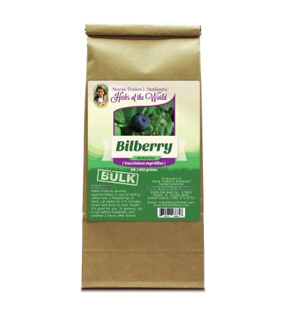 Bilberry (Vaccinium myrtillus) 1lb/454g BULK Herbal Tea - Maria Treben's Authentic™ Herbs of the World