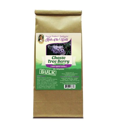 Chaste Tree Berry (Vitex agnus castus) 1lb/454g BULK Herbal Tea - Maria Treben's Authentic™ Herbs of the World