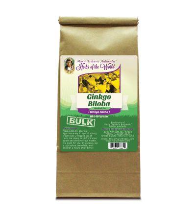 Ginkgo Leaf (Ginkgo Biloba) 1lb/454g BULK Herbal Tea - Maria Treben's Authentic™ Herbs of the World