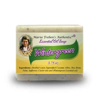 Wintergreen 3.75oz Bar Essential Oil Soap - Maria Treben's Authentic™