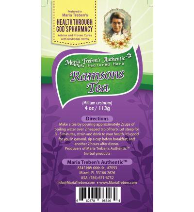 Ramsons (Allium ursinum) 4oz/113g Herbal Tea - Maria Treben's Authentic™ Featured Herb