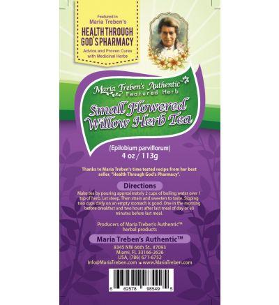 Small Flowered Willow-Herb (Epilobium parviflorum) 4oz/113g Herbal Tea - Maria Treben's Authentic™ Featured Herb