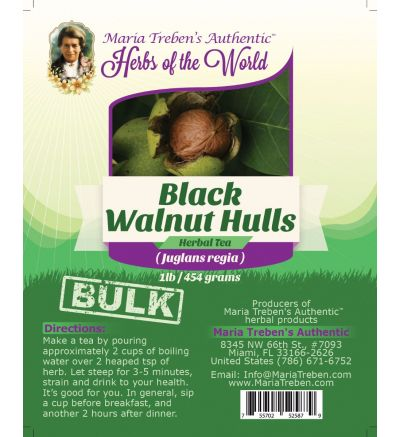 Black Walnut Hulls - Green stage (Juglans nigra) 1lb/454g BULK Herbal Tea - Maria Treben's Authentic™ Herbs of the World