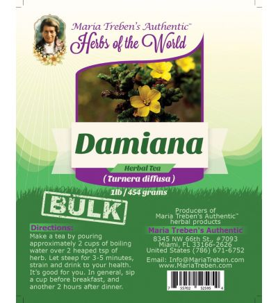 Damiana Herb (Turnera diffusa) 1lb/454g BULK Herbal Tea - Maria Treben's Authentic™ Herbs of the World