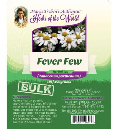 Feverfew Leaf (Tanacetum Parthenium) 1lb/454g BULK Herbal Tea - Maria Treben's Authentic™ Herbs of the World