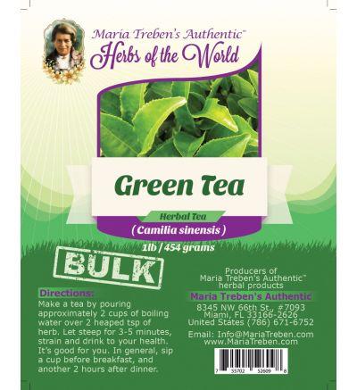 Green Tea (Camilla sinensis) 1lb/454g BULK Herbal Tea - Maria Treben's Authentic™ Herbs of the World