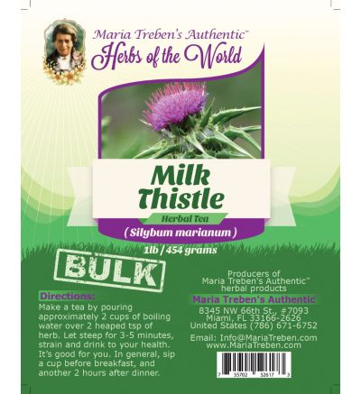 Milk Thistle (Silybum marianum) 1lb/454g BULK Herbal Tea - Maria Treben's Authentic™ Herbs of the World