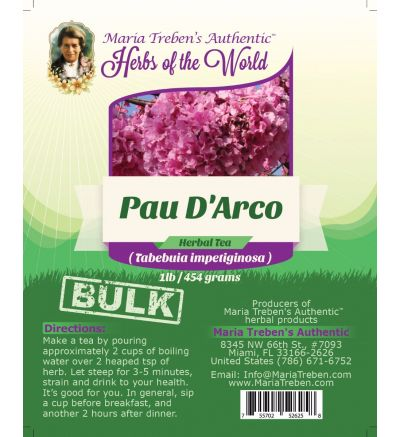 Pau D'Arco (Tabebuia impetiginosa) 1lb/454g BULK Herbal Tea - Maria Treben's Authentic™ Herbs of the World