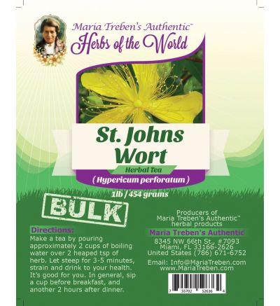 St. John's Wort Flowering Tops (Hypericum Perforatum) 1lb/454g BULK Herbal Tea - Maria Treben's Authentic™ Herbs of the World