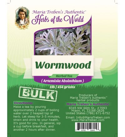 Wormwood Leaf (Artemisia Absinthium) 1lb/454g BULK Herbal Tea - Maria Treben's Authentic™ Herbs of the World