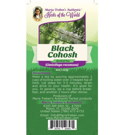 Black Cohosh Root (Cimicifuga racemosa) 4oz/113g Herbal Tea - Maria Treben's Authentic™ Herbs of the World