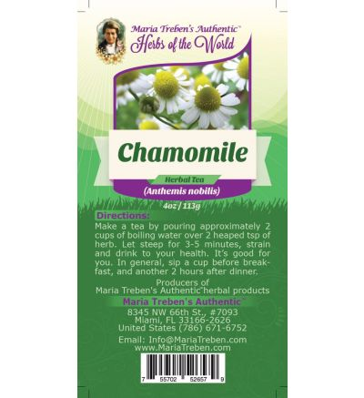 Chamomile Flower (Anthemis nobilis) 4oz/113g Herbal Tea - Maria Treben's Authentic™ Herbs of the World