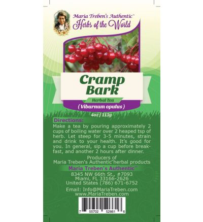 Cramp Bark (Viburnum opulus) 4oz/113g Herbal Tea - Maria Treben's Authentic™ Herbs of the World