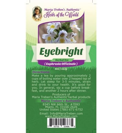 Eyebright Leaf (Euphrasia fficinalis) 4oz/113g Herbal Tea - Maria Treben's Authentic™ Herbs of the World
