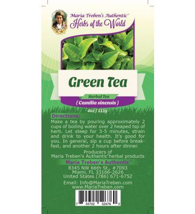 Green Tea (Camilla sinensis) 4oz/113g Herbal Tea - Maria Treben's Authentic™ Herbs of the World