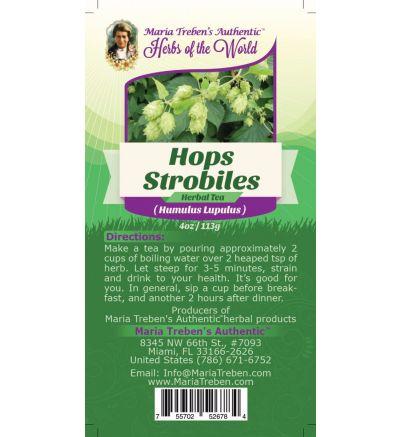 Hops Strobiles (Humulus Lupulus) 4oz/113g Herbal Tea - Maria Treben's Authentic™ Herbs of the World