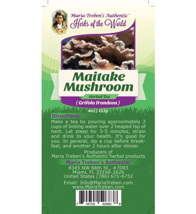 Maitake Mushroom (Grifola frondosa) 4oz/113g Herbal Tea - Maria Treben's Authentic™ Herbs of the World