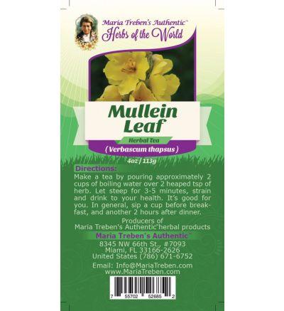 Mullein Leaf (Verbascum Thapsus) 4oz/113g Herbal Tea - Maria Treben's Authentic™ Herbs of the World