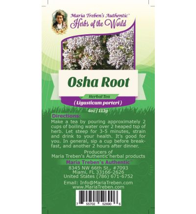 Osha Root (Ligusticum porteri) 4oz/113g Herbal Tea - Maria Treben's Authentic™ Herbs of the World