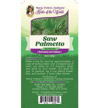 Saw Palmetto (Sarenoa Serrulata) 4oz/113g Herbal Tea - Maria Treben's Authentic™ Herbs of the World