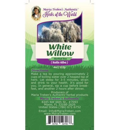 White Willow Bark (Salix Alba) 4oz/113g Herbal Tea - Maria Treben's Authentic™ Herbs of the World