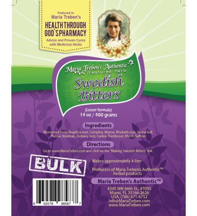 Swedish Bitters Dry Tea [Lesser] (14oz/400g) BULK - Maria Treben's Authentic™ Featured Herbs