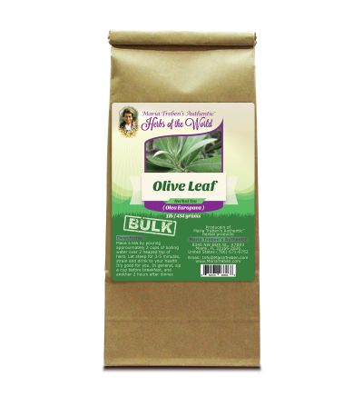 Olive Leaf (Olea Europaea) 1lb/454g BULK Herbal Tea - Maria Treben's Authentic™ Herbs of the World